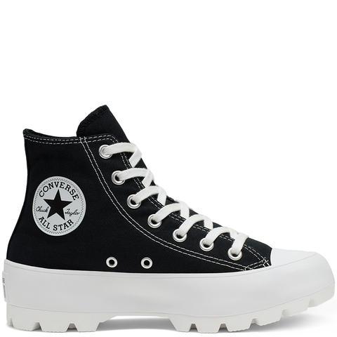 Converse Chuck Taylor All Star Lugged High Top Black, White de Converse en 21 Buttons