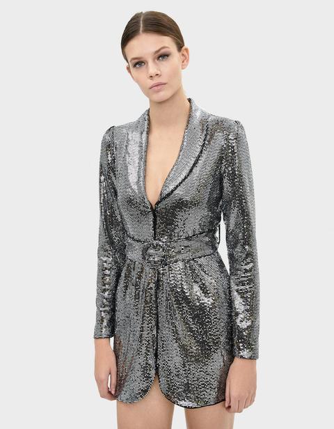 Vestido Blazer Con Espejitos
