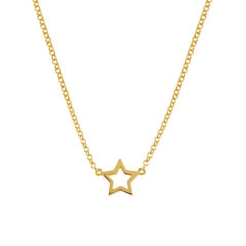 Colgante Estrella Hueca Plata Recubierta Oro de Aristocrazy en 21 Buttons