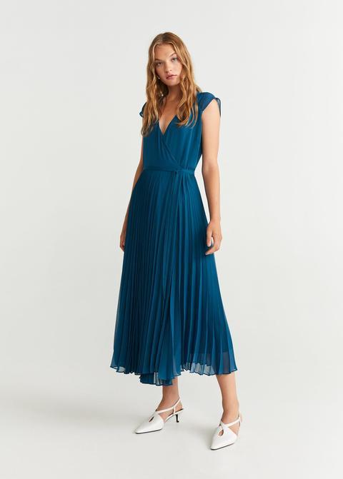 Vestido Midi Plisado