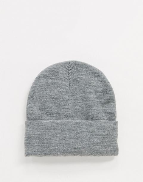 Vero Moda Beanie Hat In Light Grey