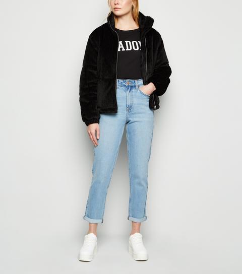 Pale Blue Waist Enhance Tori Mom Jeans New Look