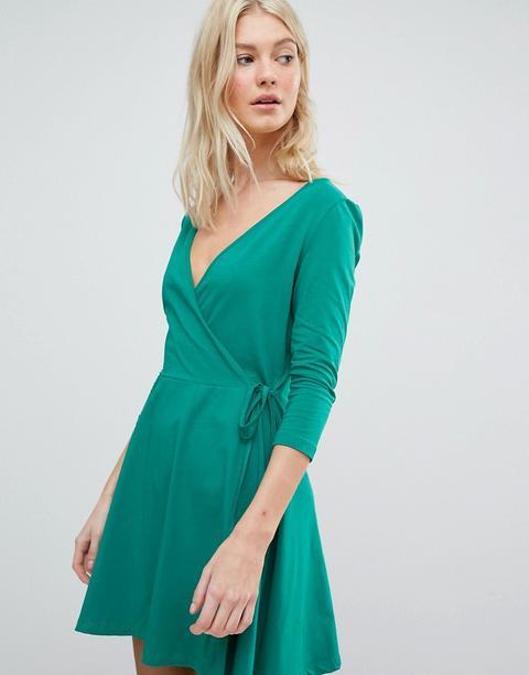Vero Moda - Vestito A Portafoglio In Jersey - Verde