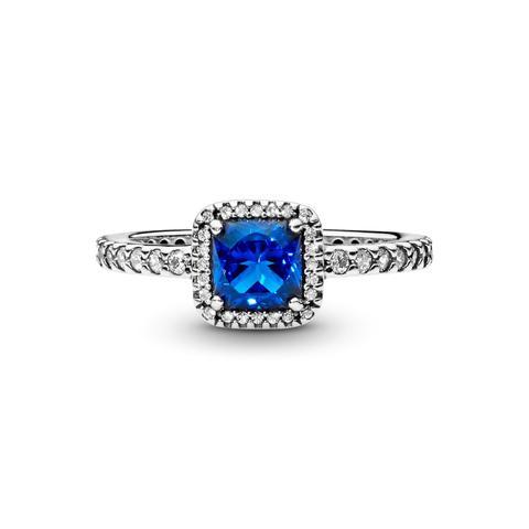 Anillo En Plata De Ley Elegancia Atemporal Azul