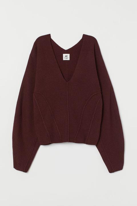 Jersey En Mezcla De Cachemira - Rojo de H&M en 21 Buttons