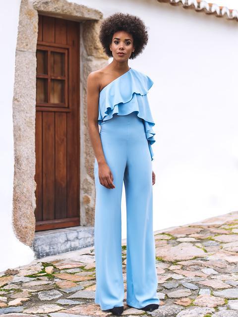 Light Blue Jumpsuit de KAOA en 21 Buttons
