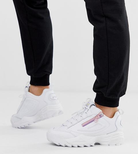 Zapatillas Blancas Con Cremallera Disruptor 3 De Fila-negro