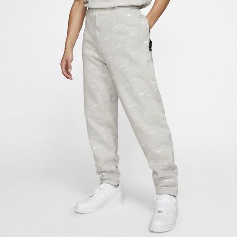 Nike Pantalón Con Logotipo Swoosh - Hombre - Gris de Nike en 21 Buttons