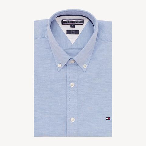 Camisa Oxford De Corte Slim de Tommy Hilfiger en 21 Buttons