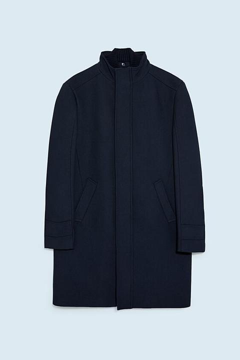 Abrigo Estructura Combinado de Zara en 21 Buttons