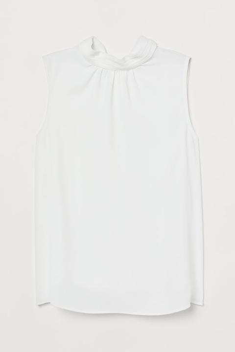 Blusa Sin Mangas - Blanco