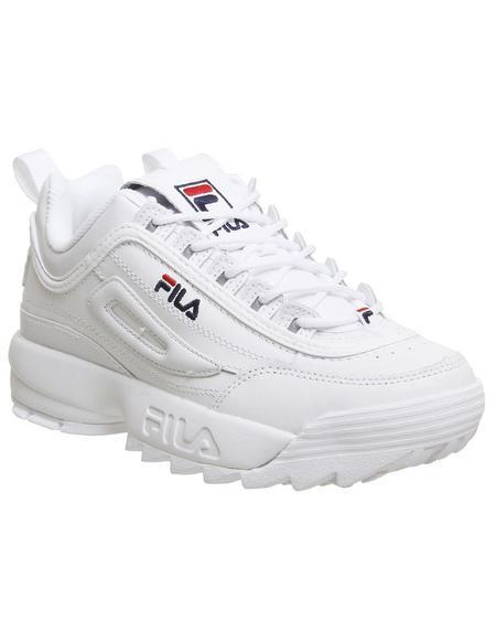 Fila Disruptor Ii White Leather