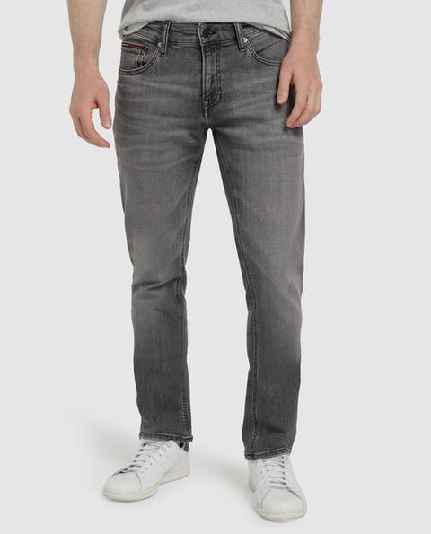 Tommy Jeans - Vaquero De Hombre Slim Gris de El Corte Ingles en 21 Buttons