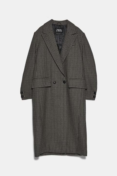 Abrigo Masculino Cuadros de Zara en 21 Buttons