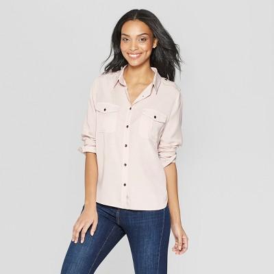 Women's Long Sleeve Collared Button-down Shirt - Universal Thread™