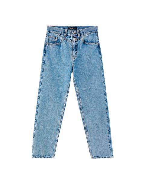 Jeans Mom Fit Canesú