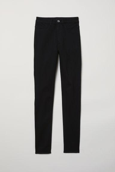 H & M - Super Skinny High Jeans - Nero