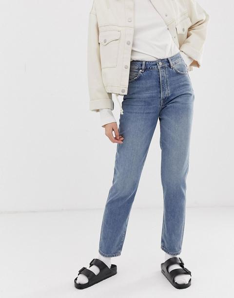 Selected Femme - Jeans Mit Geradem Beinschnitt - Blau from ASOS on 21 Buttons