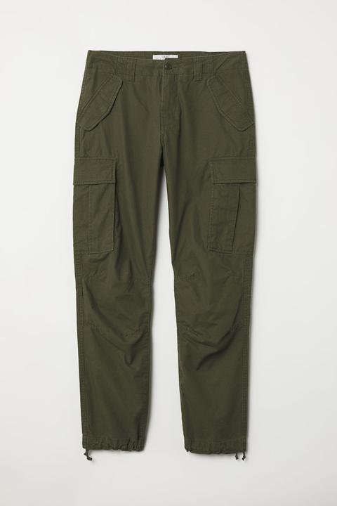 Pantalon Cargo - Vert