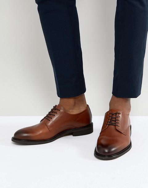 Zapatos Derby De Cuero Marrón De Selected Homme de ASOS en 21 Buttons