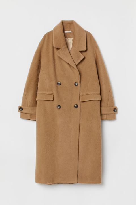 Mantel Aus Wollmischung Beige Damen from H&M on 21 Buttons