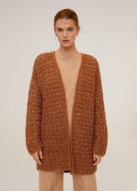 Cárdigan Crochet de Mango en 21 Buttons