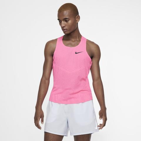 comerciante Púrpura estimular  Nike Aeroswift Men's Running Vest - Pink from Nike on 21 Buttons