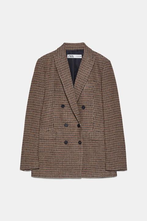 Blazer Cuadros de Zara en 21 Buttons