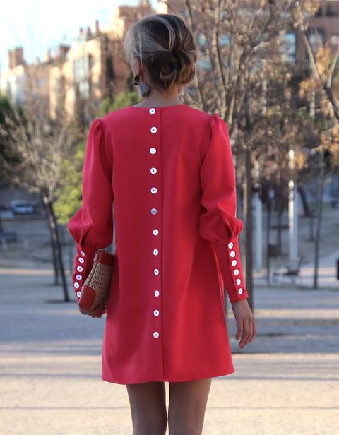 Vestido Lily Rojo-coral de An & Be en 21 Buttons