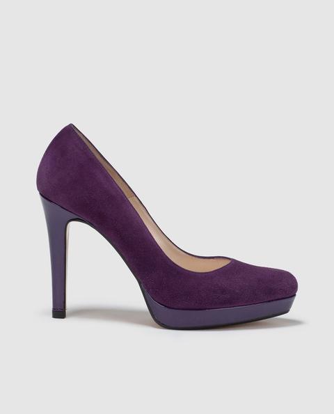 Lodi - Zapatos De Salón De Mujer De Ante Morado de El Corte Ingles en 21 Buttons
