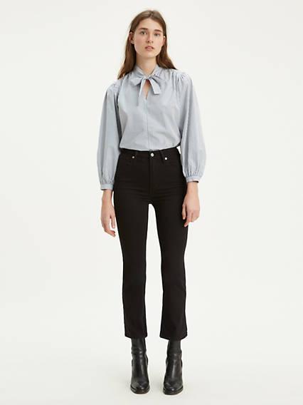 Mile High Crop Flare Jeans Negro / Black Sheep de Levi's en 21 Buttons