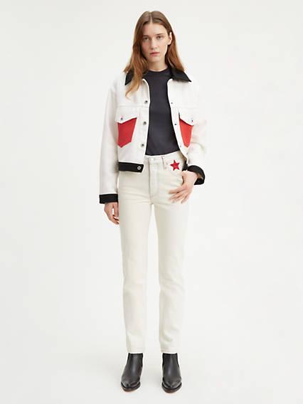 Levi's® Made & Crafted® 501® Crop Jeans Neutre / Lucky Star de Levi's en 21 Buttons