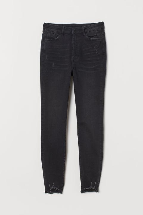 Super Skinny High Ankle Jeans - Noir
