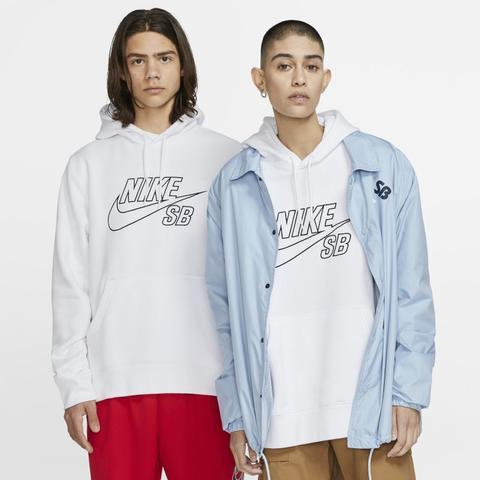 Nike Sb Sudadera Con Capucha De Skateboard - Blanco
