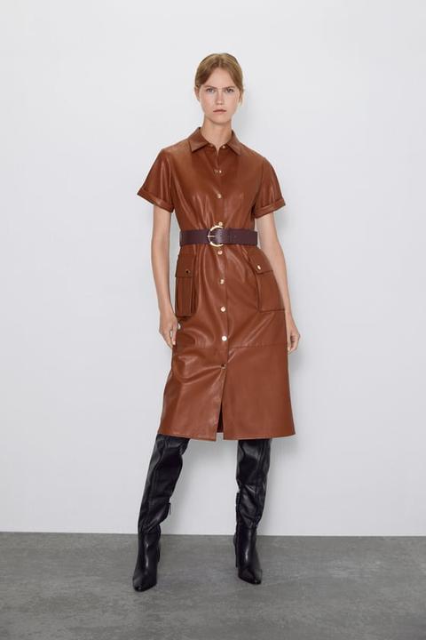 Kleid Aus Kunstleder