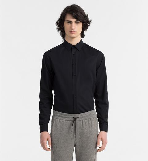 Camicia In Popeline Elasticizzato Aderente de Calvin Klein en 21 Buttons