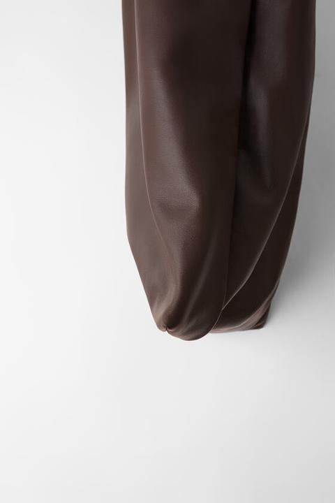 Bolso De Mano Maxi Sobre Piel Soft