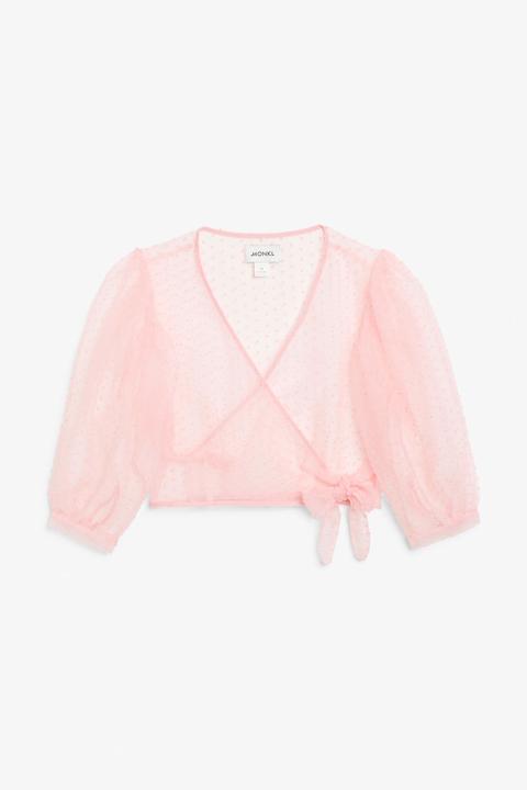 Wrap Blouse - Pink