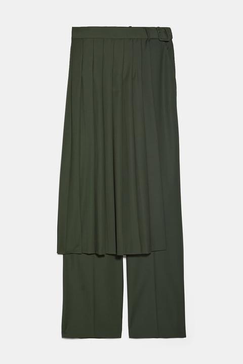 Pantalón Falda Plisada de Zara en 21 Buttons