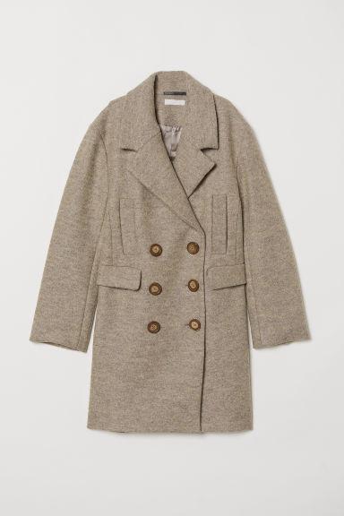 Abrigo En Mezcla De Lana - Gris de H&M en 21 Buttons