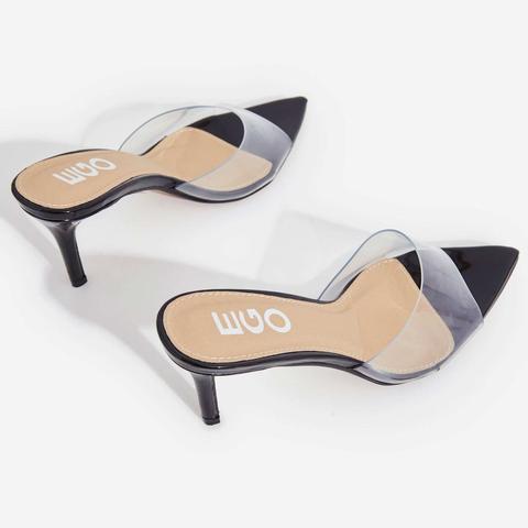 Maelle Pointed Peep Toe Perspex Heel