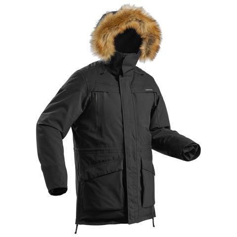Parka Cálida Impermeable De Senderismo Nieve Hombre Sh500 Ultra-warm Caqui