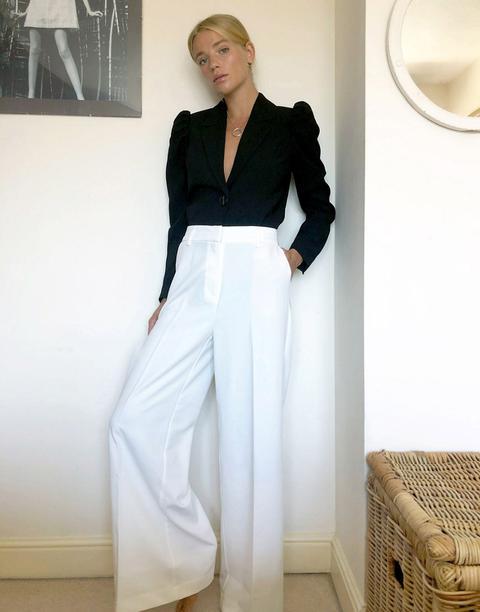 Pimkie Wide Leg Trouser In White