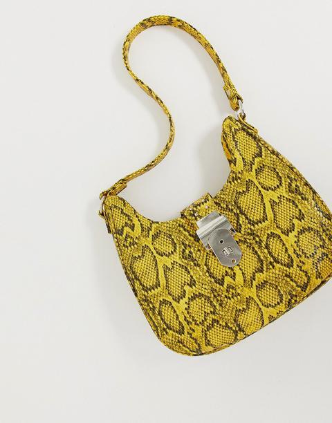 Asos Design - Sac Western Style Années 90 Effet Peau De Serpent-jaune