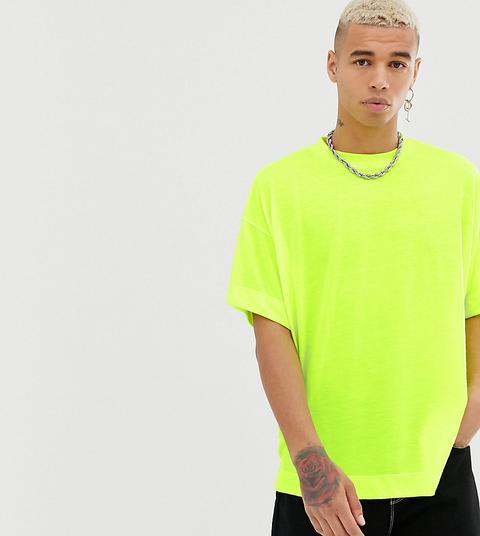 Camiseta Extragrande En Amarillo Neón De Collusion