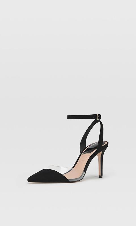 Zapatos Tacón Vinilo Negro