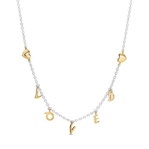 Collar En Plata De Primera Ley Y Pandora Shine Amor En Letras de Pandora en 21 Buttons