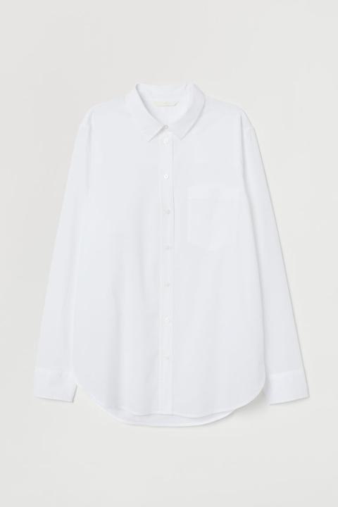 Chemise En Coton - Blanc