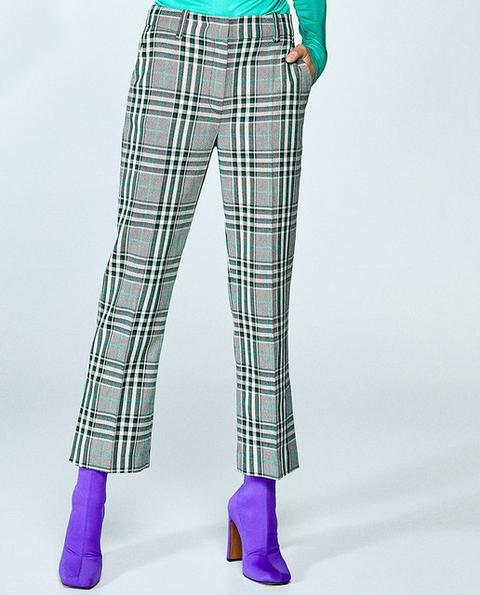 Sfera - Pantalón Cropped De Mujer De Cuadros