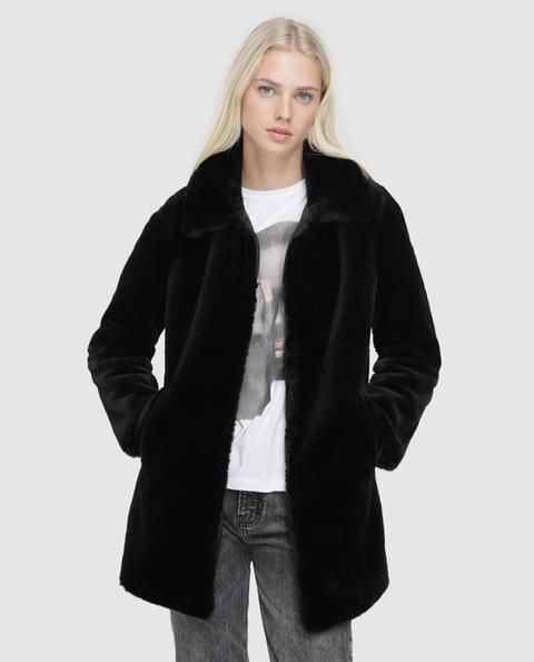 Easy Wear - Abrigo De Mujer De Pelo Sintético Con Cuello de El Corte Ingles en 21 Buttons